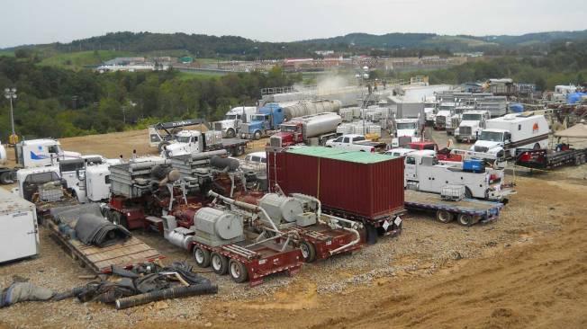 Fracking site, Marcellus Shale. Photo courtesy of U.S. Geologic Survey.
