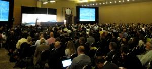 Interior Secretary Sally Jewell addresses a packed ballroom