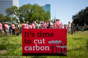 Climate activists urge action to curb carbon emissions at a demonstration in Richmond, Virginia. Photo by Josh Lopez, courtesy of the Sierra Club.