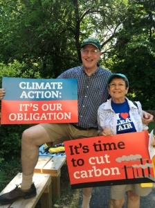 Virginia Sierra Club activists Tom Ellis and Ann Moore. Photo by Ivy Main
