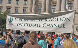 Virginians rally in front of U.S. EPA Headquarters in Washington, DC in support of the Clean Power Plan