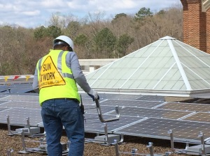 Colleges in APCo territory want to use PPAs to install solar facilities like the one recently installed at the University of Richmond, in Dominion territory.