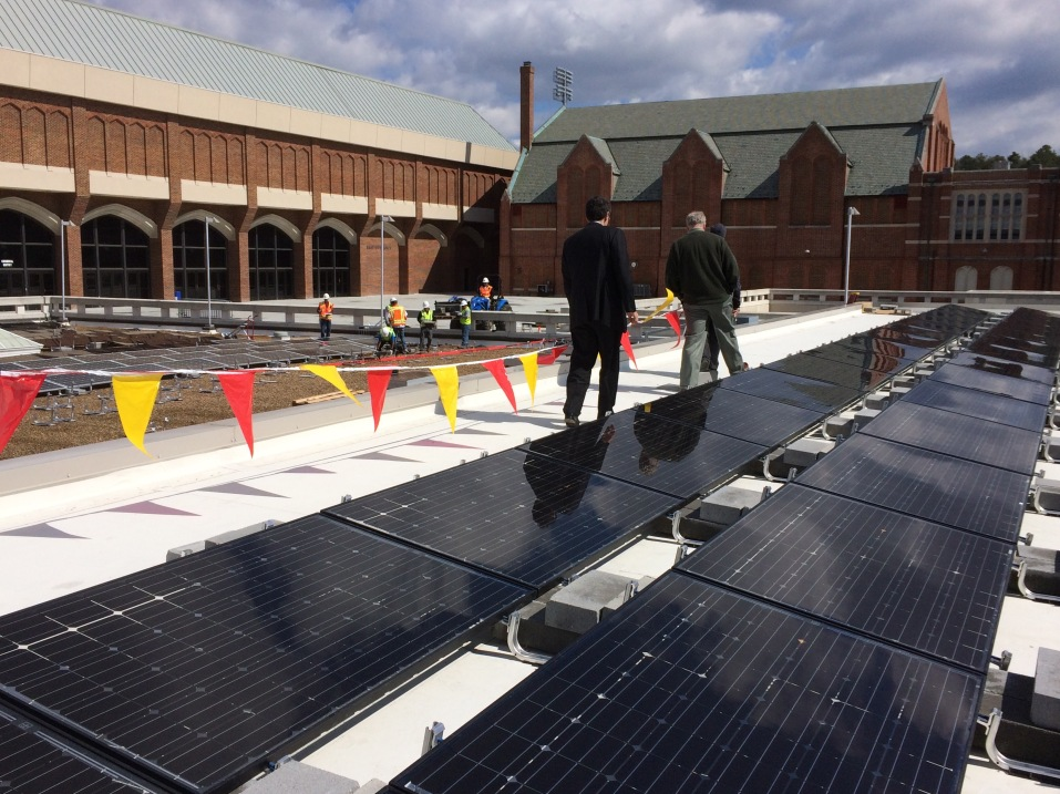 A third-party PPA made it possible to build this solar facility at the University of Richmond. Appalachian Power Company contends that a project like this would be illegal in its territory.