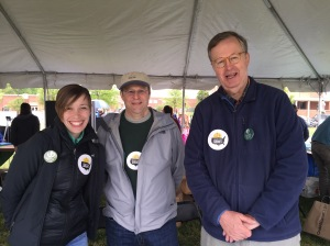 Ready for 100 Community Outreach Coordinator Taylor Bennett, Mount Vernon Group of the Sierra Club Chair Dean Amel, and Virginia Chapter Sierra Club Chair Seth Heald.