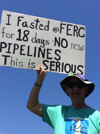 Charlie Strickler of Harrisonburg, Virginia, was one of a dozen activists who fasted last September in protest of FERC's role in approving natural gas pipelines, citing their contribution to climate change and harm to communities in their path. Photo by Ivy Main.