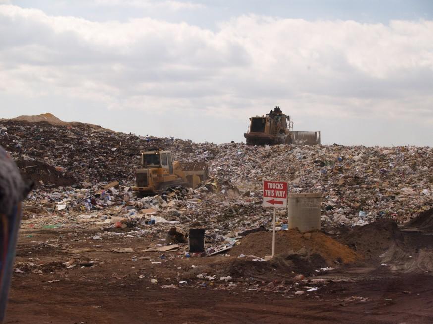 a trash dump