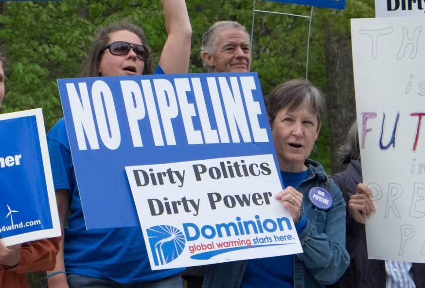 Pipeline protesters standing up to Dominion Energy's Atlantic Coast Pipeline (ACP)