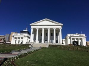 Virginia statehouse, where the General Assembly meets