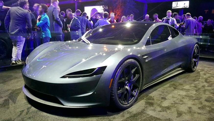 Prototype of the 2020 Tesla Roadster electric vehicle