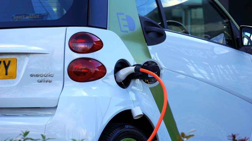 electric vehicle plugged in