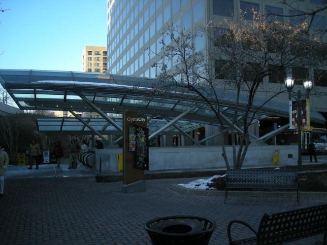Entrance to Crystal City Metro Station in Arlington, Virginia