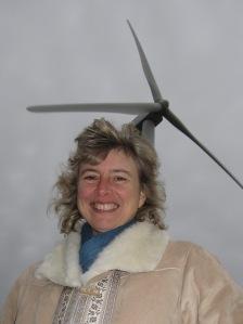 Ivy Main with wind turbine