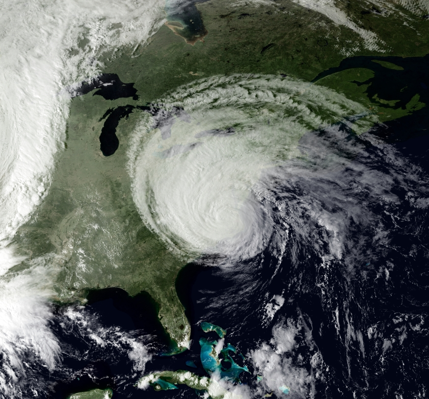 Satellite imagery shows Hurricane Isabel in 2003